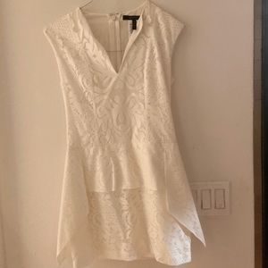 Bcbg white short dress
